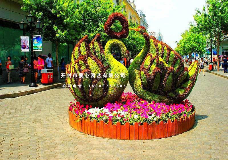 五色草立体立体花坛 植物造型 绿雕