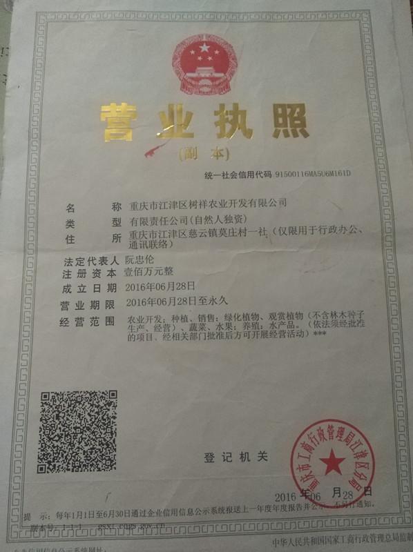 重庆市江津区树祥农业开发有限公司