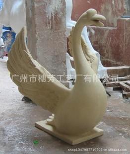 流水工艺品欧式喷泉雕塑动物喷水水景摆设喷水天鹅