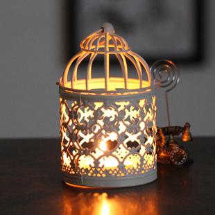 复古镂空悬挂铁艺婚庆烛台欧式风灯摆件酒吧装饰烛台
