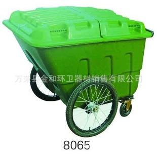 【供应人力推车式塑料垃圾桶车