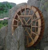 防腐木风车,木水车 水轮车 木制风车