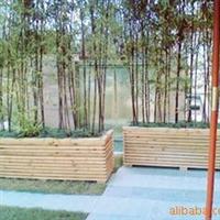 供应订做 防腐木木花箱 碳化木花箱 景观花箱厂
