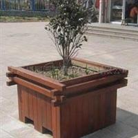 供应订做 防腐木花箱 木制花架 木制花箱