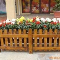供应订做 防腐木木花箱 碳化木花箱 景观花箱