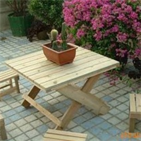 (热销)专业制作上海 户外休闲桌椅 防腐木桌子