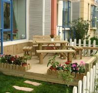 树围椅、防腐木围椅、木花架、木桥、木栅栏、木亭、小区绿化