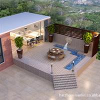 别墅庭院设计、别墅庭院装修、景观小品、别墅花园、石景墙