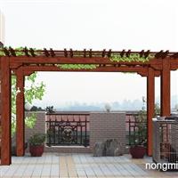 南宁防腐木花架专用于屋顶花架木结构施工