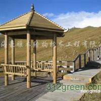 供应户外家具、塑木制品、木结构景观、景观小品
