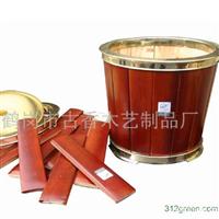 供应工艺木制花盆容器
