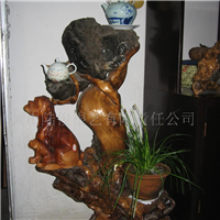 供应根雕根抱石花架