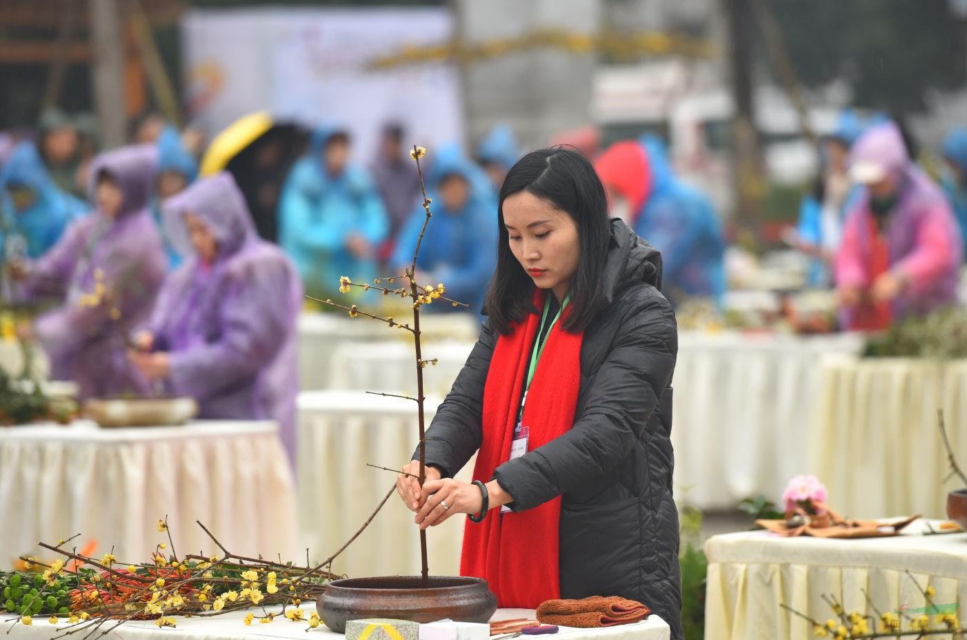 「betway必威体育亚洲」第两届静不雅杯传统插花年夜赛胜利举行
