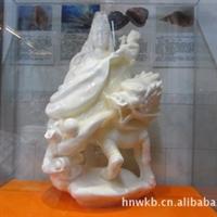 海南特级天然砗磲贝壳雕刻工艺品送子观音厂