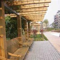 供应订做 防腐木走廊 木花架 花园走廊 廊架