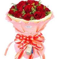 宁德丁香花店 七夕节 情人节 生日鲜花 9枝 红玫瑰 精美包装 N021