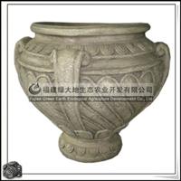 供应各种造型花盆工艺品手绘白云土花盆