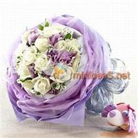 七夕鲜花预定、鲜花礼盒预定、鲜花速递、同城配送、暗香浮动花艺