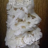 批发天然白砗磲贝壳手工雕刻龙凤戏珠居家摆件/商务办公礼品