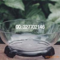 水仙花盆批发 椭圆型透明花盆(含底座)