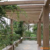提供私家花园防腐木亭子木花架木制景观小品