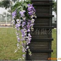 【紫藤花卉】批发供应仿真紫藤花,人造植物,假紫藤树,仿真豆花