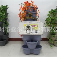 加厚蝴蝶盆,层叠组合式,立体美观,落地吊挂两用,阳台菜盆
