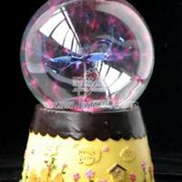 【创意礼品】创意节日礼品/魔幻闪电水晶球/魔幻蝴蝶花园水晶球