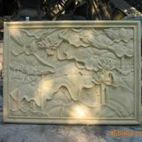树脂雕塑砂岩浮雕壁画、玻璃钢装饰板材(荷花)、砂岩背景墙