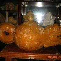 九龙壶米黄玉佛金蝉貔貅烛台酸臼健身球老虎