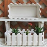长方形花盆阳台种菜花盆/塑料围栏盆/塑料栅栏花盆花槽
