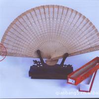 供应纯手工制作正宗原木印度檀香扇100%真品保证