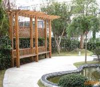供应庭院装修防腐木产品绿化工程