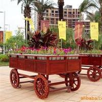 供应户外家具,防腐木栅栏,花车,木凳