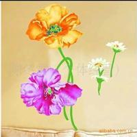 阿里巴巴较低价组合贴墙贴DIY装饰喇叭花(货号:TC-1077)