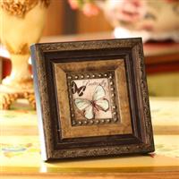 欧式古典司墨兰复古实木刻花烫金压花相框镜框像框小号