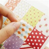 韩国dailylike�I第二季浪漫玫瑰印花万用小卡通贴纸(6枚入)