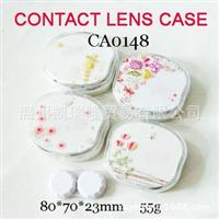 CA0541手工蝴蝶圆盘珍珠五叶花丝带装饰美瞳隐形眼镜盒护理盒