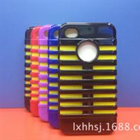 厂家直销iphone4g/4s苹果麦克风机器人硅胶+PC二合一