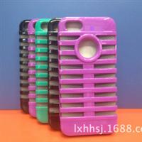 厂家直销iphone5c苹果麦克风机器人硅胶+PC二合一