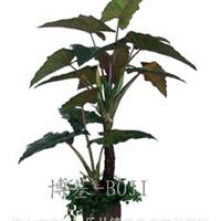 专业生产批发仿真植物仿真盆栽植物二杆彩虹紫芋