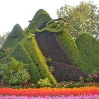 五色草造型山,植物绿雕,立体花坛设计施工