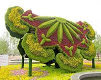 五色草造型 立体花坛 绿雕 水泥雕塑